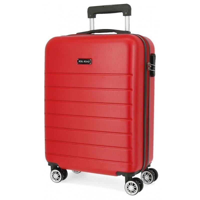 Cestovný kufor ABS Roll Road Magazine Red 55 cm