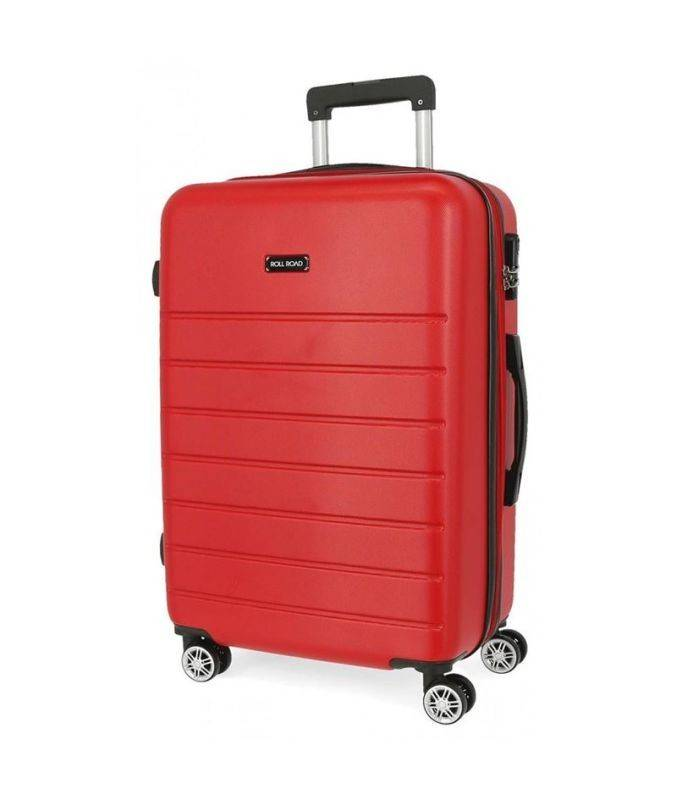 Cestovný kufor ABS Roll Road Magazine Red 76 cm