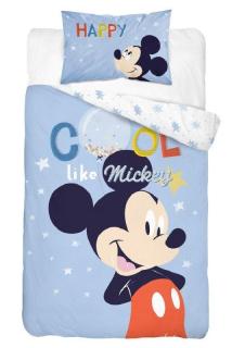 Obliečky do postieľky Mickey Cool blue 100/135, 40/60