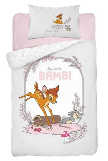 Obliečky do postieľky Little Bambi grey 100/135, 40/60