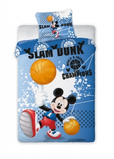 Obliečky Mickey Mouse basketbal 140/200, 70/90