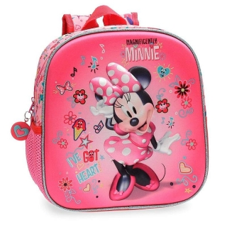 Junior batoh Minnie Stickers 3D 25 cm