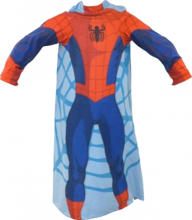 Fleece deka Spiderman s rukávmi 100/150