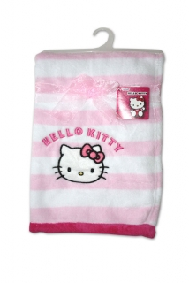 Micropolar fleece deka Hello Kitty ružovobiela 76/102