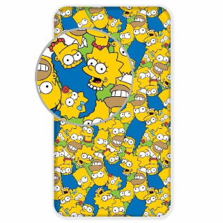 Plachta Simpsons Family green 90/200